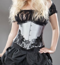 SILVER UNDER  BUST CORSETS
